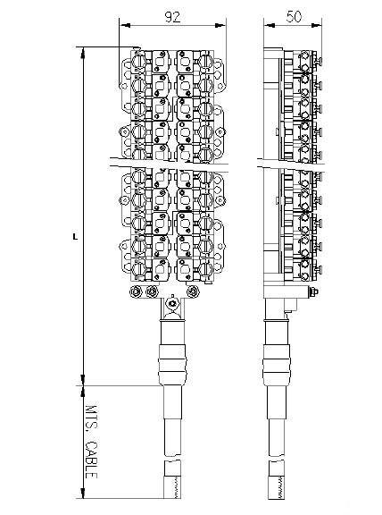 vx terminal stubbed block  stub connection module